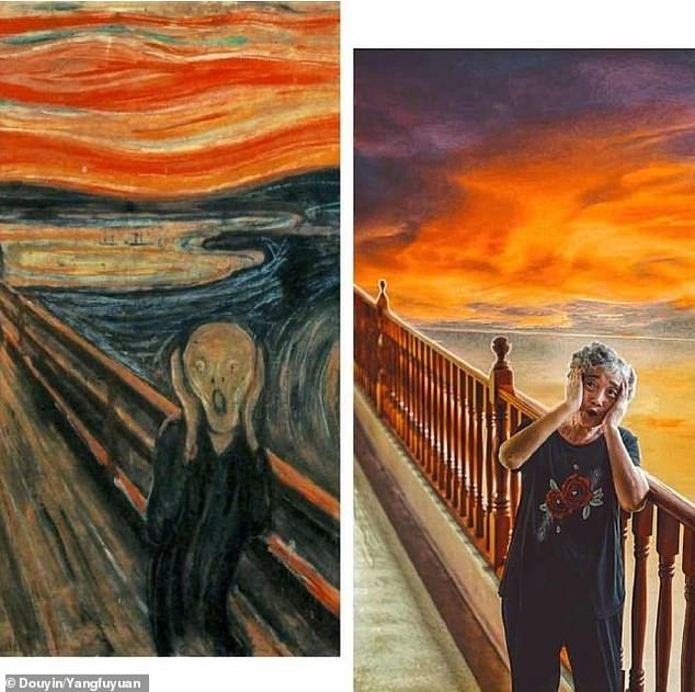 A group of elderly residents at a nursing home in Shanghai has amazed hundreds of thousands of social media users with their creativity after stunningly recreating famous works of art