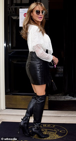 All eyes on her: The honey-blonde beauty turned heads as she made a stylish entrance to the private members' club