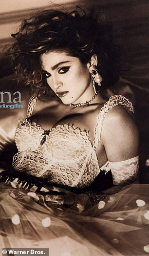 Lookalike: Madonna on the cover of her second album, Like A Virgin, in 1984