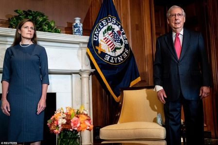SCOTUS Nominee Amy Coney Barrett Goes to Capitol Hill for First Time to Meet Republican Senators Before Nomination Hearings