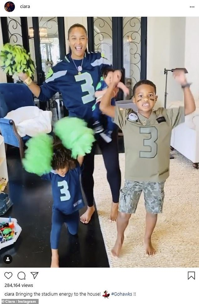 Growing family: It was the second child for the couple, following their three-year-old daughter Sienna, and the third for the singer, who shares her six-year-old son Future with the rapper of the same name