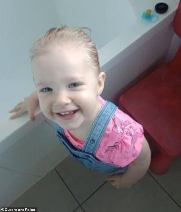 The child is described as less than one-metre tall, Caucasian, of slim build with blonde hair and blue eyes.