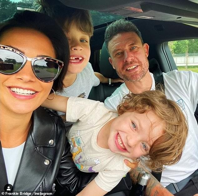 Family:The couple, who are parents to Parker, six, and Carter, five, became viral sensations during lockdown as they entertained their fans with their humorous TikTok dance videos