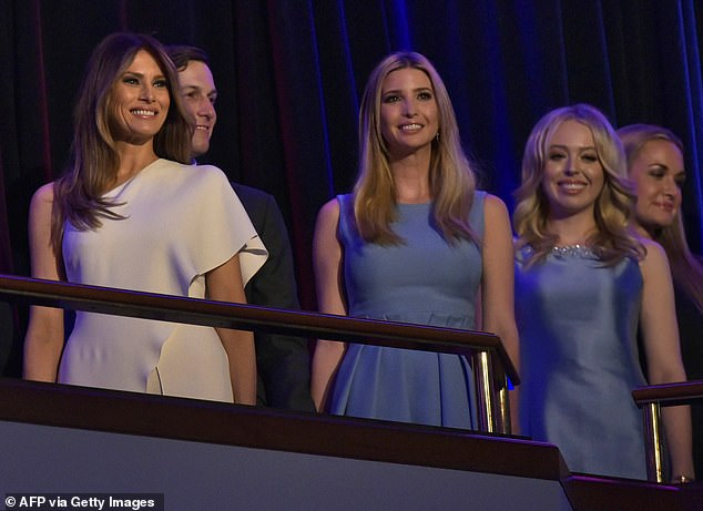 Smile! They also stood alongside one another on election night in November 2016, when the entire Trump family came together to celebrate the President's victory over Hillary Clinton