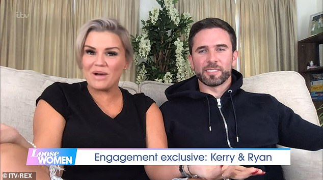 Wedding bells: Earlier this month, Kerry and Ryan shared more details of their romantic Spanish engagement as they appeared on Loose Women