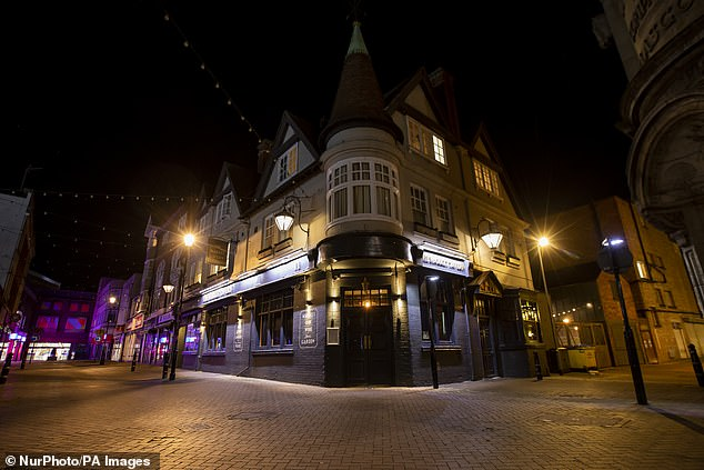 During the first Friday night of early pub closures due to government directives, the streets of Northampton were empty