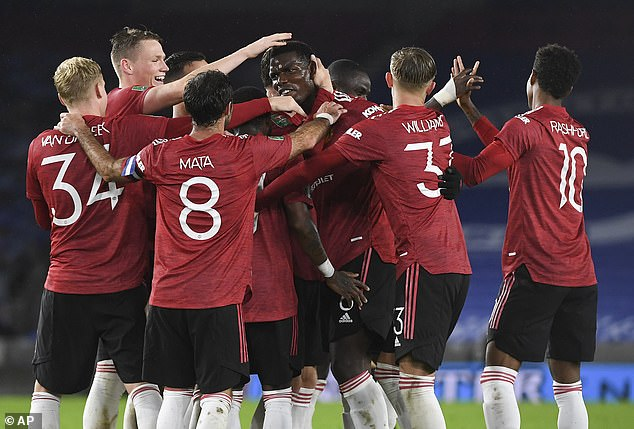 United sealed their progress to the Carabao Cup quarter-finals after beating Brighton 3-0