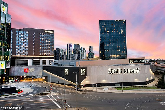 Guards employed by services company Spotless were sent home from the Novotel (pictured) in Southbank half way through their shift on Wednesday