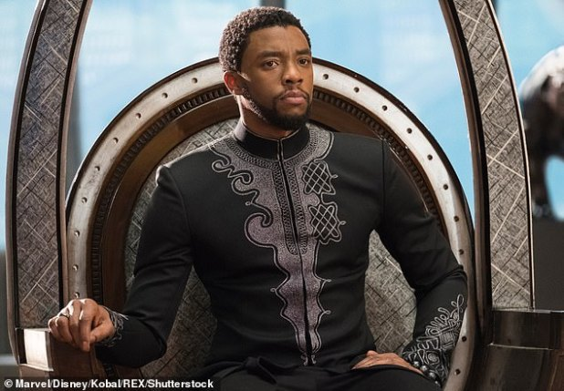 Private fight: Bozman continued his acting career despite his 2016 colon cancer diagnosis and was treated while starring as Marvel's Black Panther star.  He died on 28 August at the age of 43