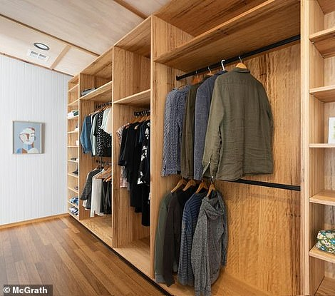 And an enormous walk-in wardrobe in the master for parents