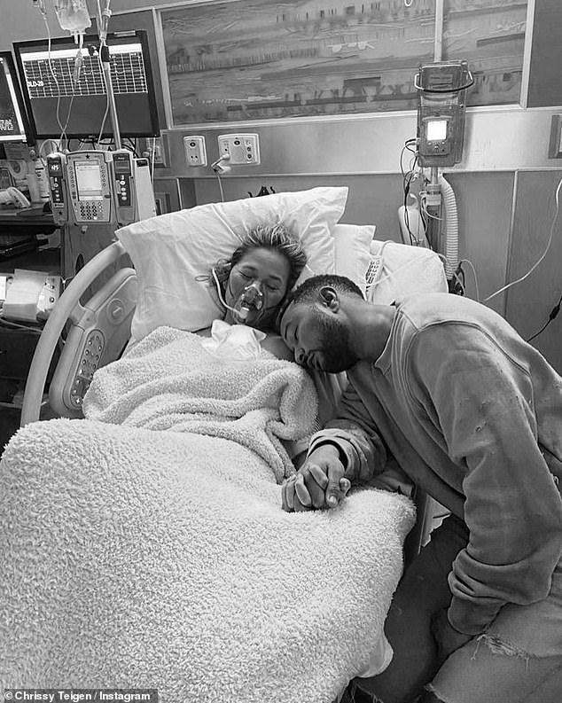 """Forever Jack: """"We never decide on the names of our babies until the last possible moment after birth, just before we leave the hospital.  But we, for some reason, had started calling this little guy in my stomach Jack, '' Teigen explained."""