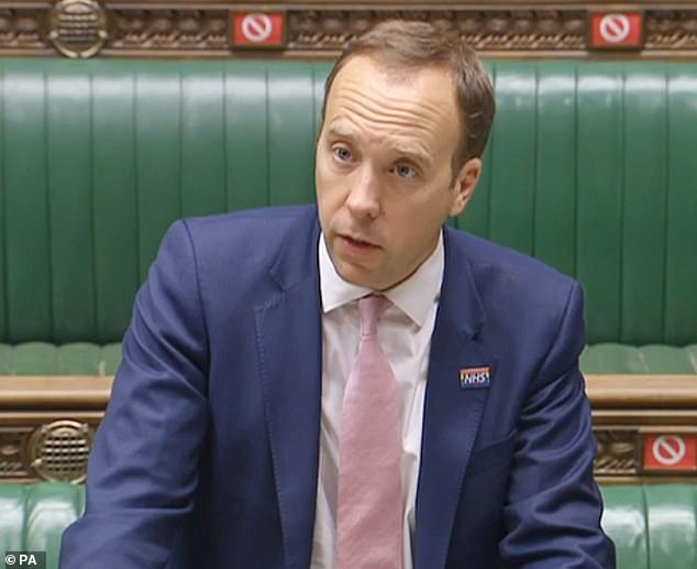 But Matt Hancock told the House of Commons last week he had green-lit a Government-funded 'trial' investigating vitamin D and that it did not 'appear to have any impact'