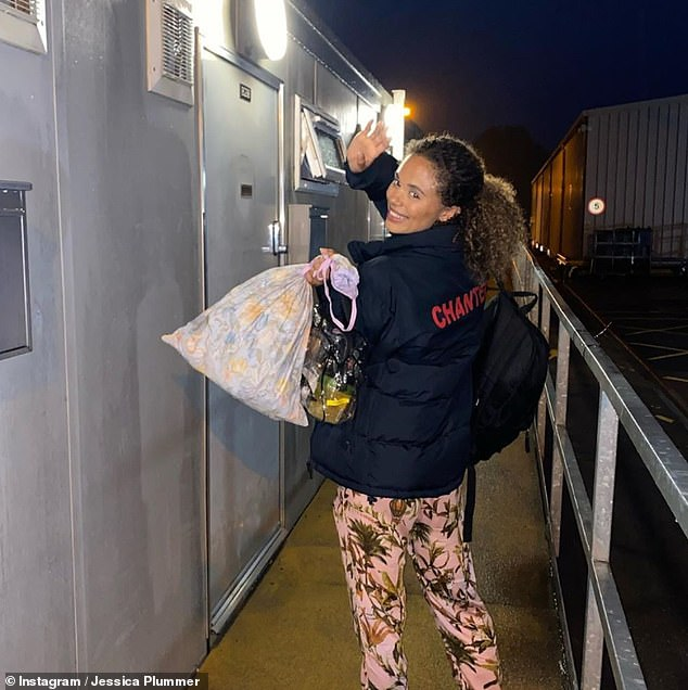 Leaving: Jessica bid farewell to the soap EastEnders last month where she shared an emotional message with her Instagram followers
