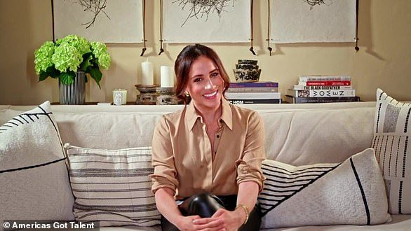 It's not the first time the Duchess of Sussex has revealed her living room to the world, having previously appeared from the space on America's Got Talent