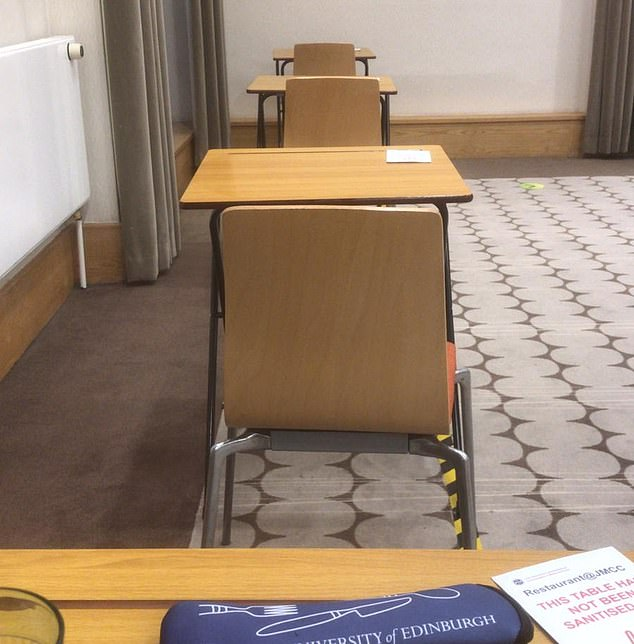 The rigid floor-plan stifles conversation in the Pollock Hall dining room at Edinburgh University