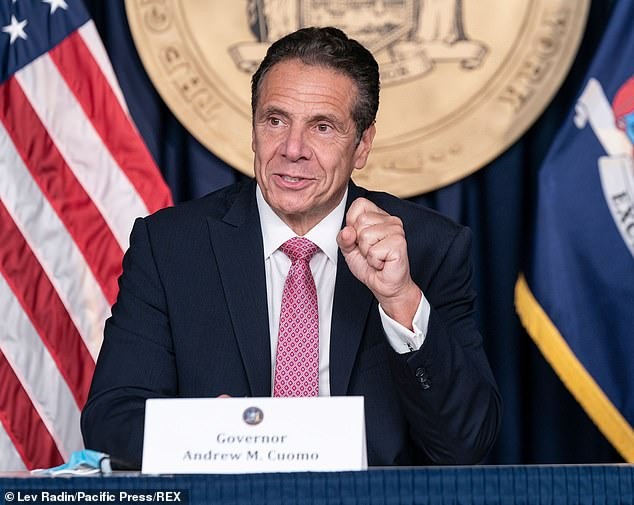 Governor Andrew Cuomo announced the launch of the app on Thursday, saying: 'It's using technology really on a level it's never been used before' (file photo)