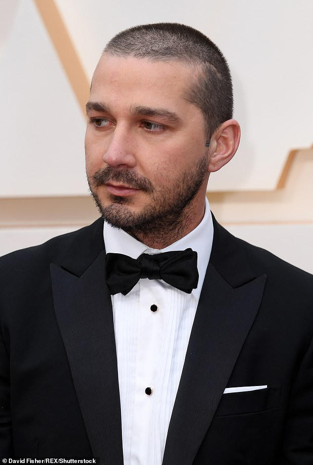Argument: An insider told the website that after the heated argument was over, Shia took off the man's cap and left the scene with it (pictured in February 2020)