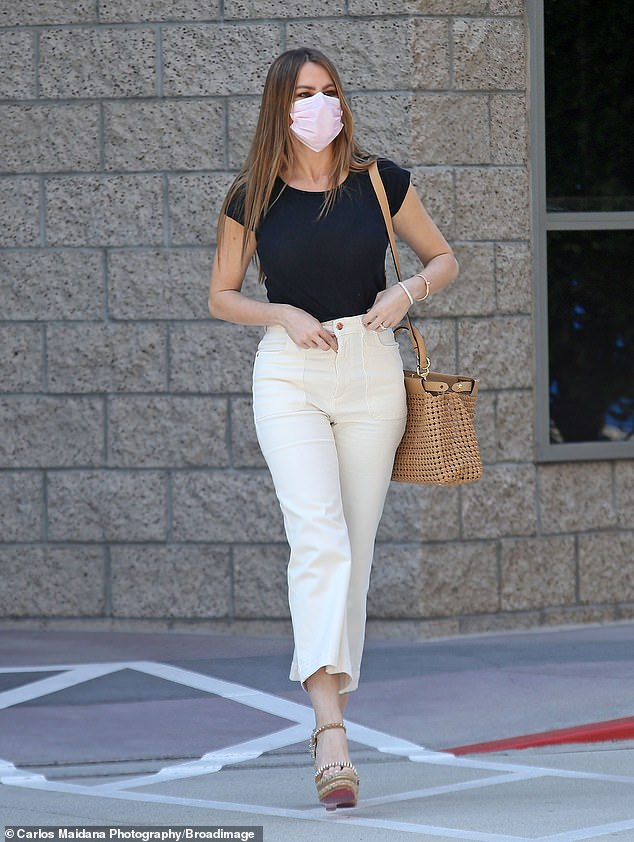 Effortlessly fashionable: Sofia Vergara showed off her chic quarantine style as she stepped out in Los Angeles on Thursday