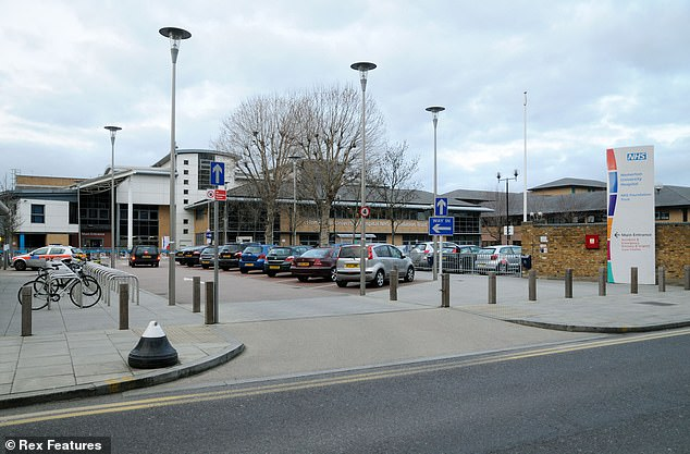 The 15-minute termination procedure took place at Homerton University Hospital in east London – as Mr Kemsley drove around trying to find a spot to park