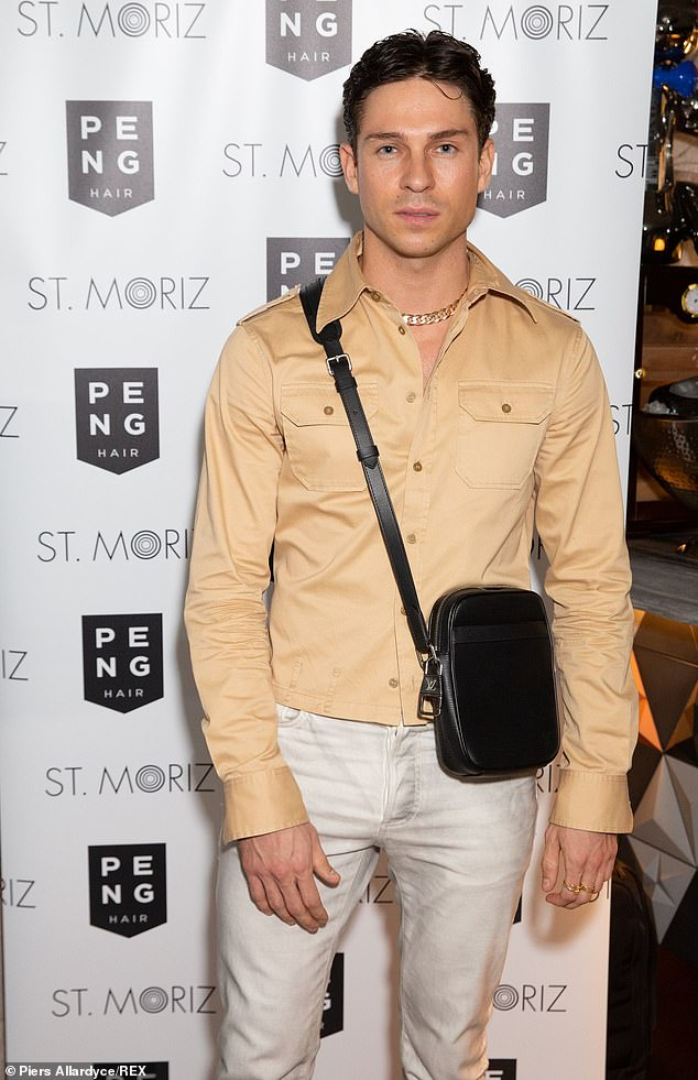 Calling it quits:Joey Essex has reportedly split from his Brazilian girlfriend Brenda Santos after a whirlwind five-month romance (pictured in September)