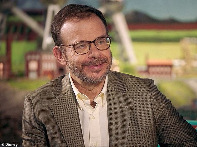 Moranis said he took a break from acting to focus on being a single father after his wife died in 1991. Pictured: Moranis in an interview for Disney+