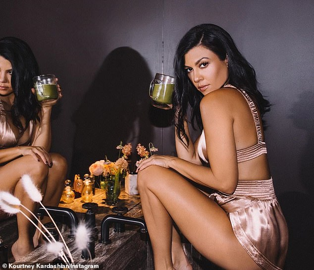 Boss-lady:Kourtney Kardashian got heads turning as she shared several sizzling snaps to her Instagram account on Friday