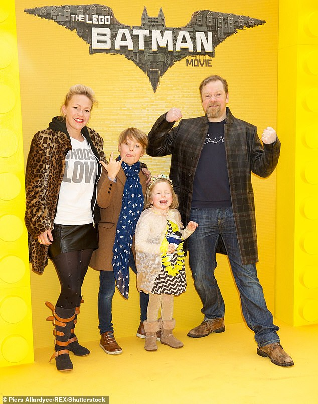 Family man: The couple share two children (LR) Alby and Hilda together (pictured from 2017)