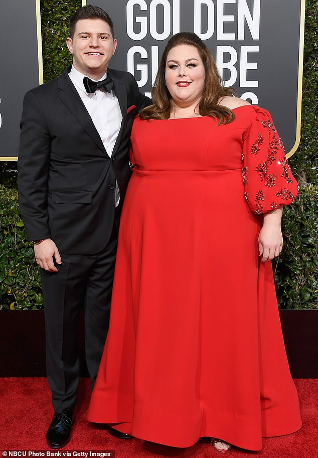 Brief romance: The This Is Us star was first romantically linked to the music composer in November of 2018, later making their red carpet debut at the Golden Globes last January (pictured in January, 2019)