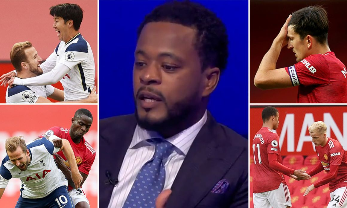 Patrice Evra stole the show on Sky Sports as Manchester United were humbled  6-1 by Tottenham | Daily Mail Online