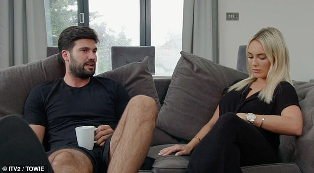 Not happy: During the Sunday show, fans saw Amber get mad at Dan when he told Chloe's sister, Demi, that they were having arguments during the lockdown.