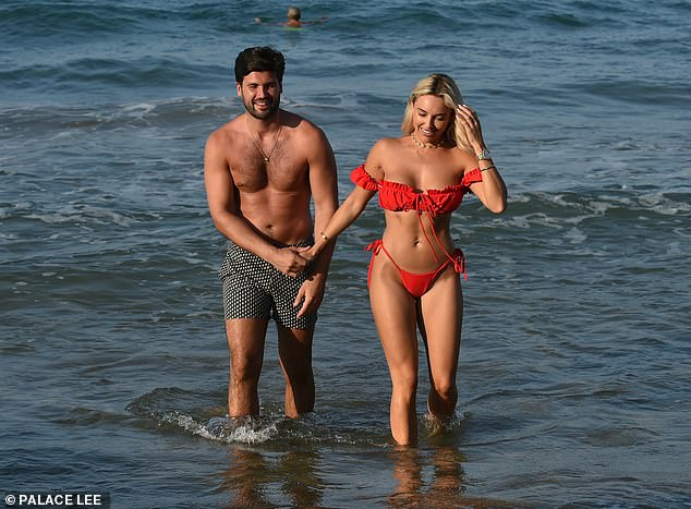 Holiday romance:Amber Turner and her boyfriend Dan Edgar appeared to be more loved-up than ever as they enjoyed a romantic getaway to Turkey together recently