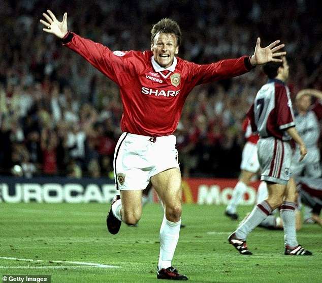 Teddy Sheringham, celebrating against Bayern Munich at Camp Nou in 1999, was a shrewd move for Sir Alex Ferguson's side given their triple success that year.
