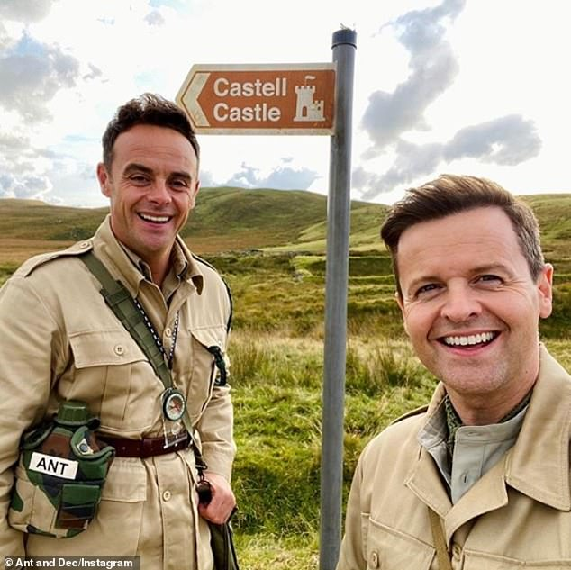 Ready: Hosts Ant and Dec visited the new set last week, where they posted on Instagram wearing matchingcamouflage outfits complete withcompass and personalised water bottle