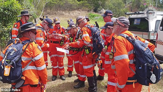 Australian Defence Force members joined Queensland Police and specialist mountain rescue teams to search for Judge Andrew (pictured at Mount Coot-tha)