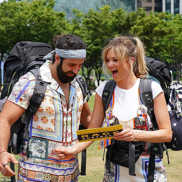 New series: The Channel Ten series was localised this year after international travel was off the cards because of the coronavirus pandemic. PicturedSidney Pierucci andAshley Ruscoe