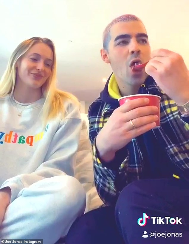 Laugh Together: Joe Jonas and Sophie Turner proved they're still finding ways to have fun and laugh as they created a hilarious TikTok video on Friday