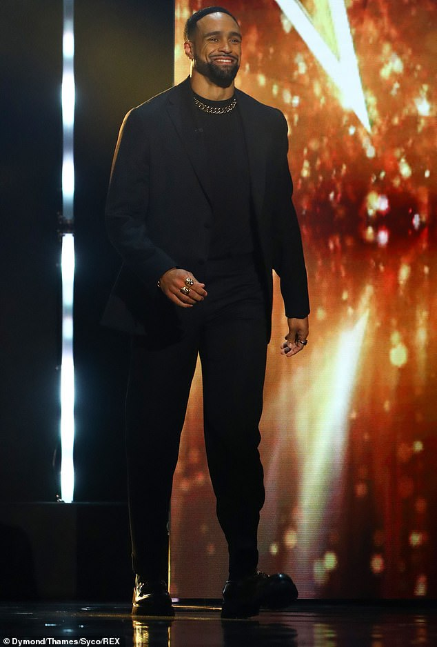 Defiant: Ashley mocked recent Ofcom complaints about Diversity during Saturday's Britain's Got Talent finale when he responded to comedian Nabil Abdulrashid's routine