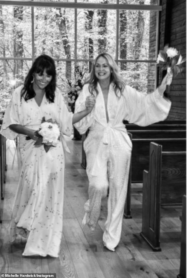 Nuptials: The Emmerdale star tied the knot with her other half as a TV producer at a lavish wedding reception at Graceland in Memphis