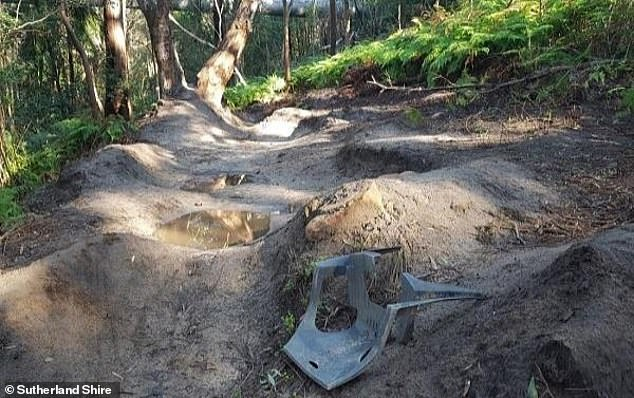 Outraged parents have criticized Sutherland Shire Council, in southern Sydney, for banning their children's homemade bike jumps (pictured above)