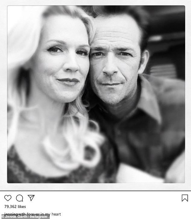 'Forever in my heart': Jennie Garth shared a beautiful black and white photo of herself and Perry that appeared to be more recent