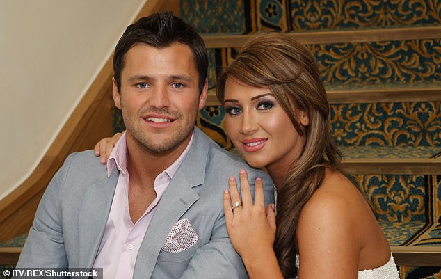 Swipe: Lauren made the apparent reference to Mark despite their romance almost ten years ago, and Mark since marrying actress Michelle Keegan [pictured in 2011]