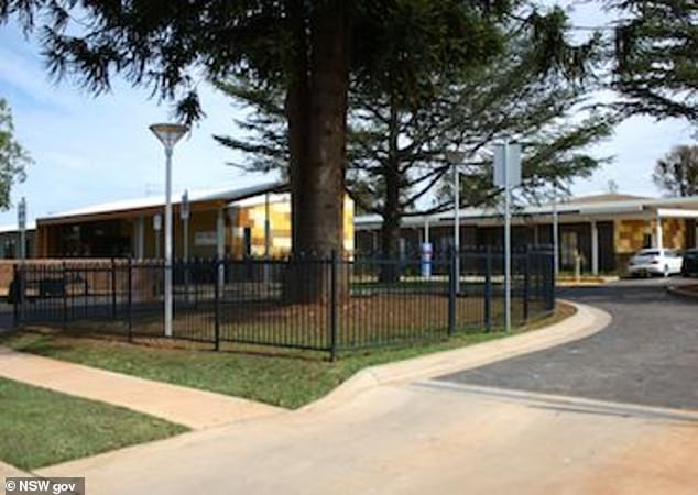 Ms. Trevitt was rushed to Gulgong Hospital (pictured) near Mudgee last month with dangerously low blood pressure, but the shift doctor treated her via video link
