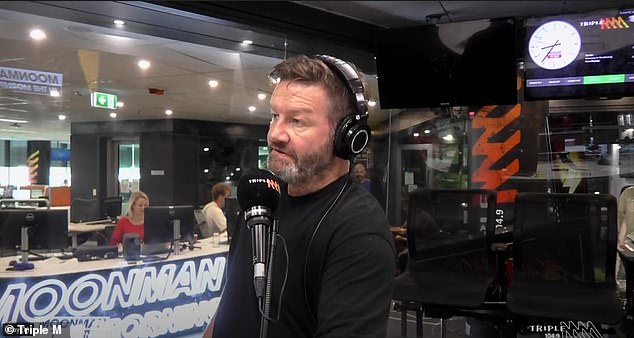 Storytelling: Lawrence Mooney (pictured) decided to share numerous anecdotes about beloved star Denise in Triple M's Moonman in the Morning