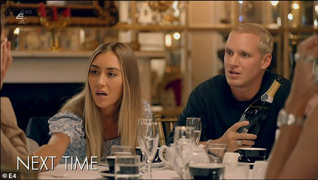 Confession:In clips from next Monday's show, Zara is seen bursting into tears during a lunch with Sophie Habboo and Jamie Laing