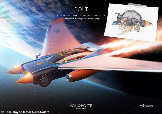 The Pinnacle of Intergalactic Space Travel: Ten-year-old Declan's design Bolt was highly commended by the judges