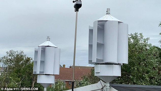 Cylindrical wind turbines which are strapped to motorway lamp posts could be powered by TRAFFIC
