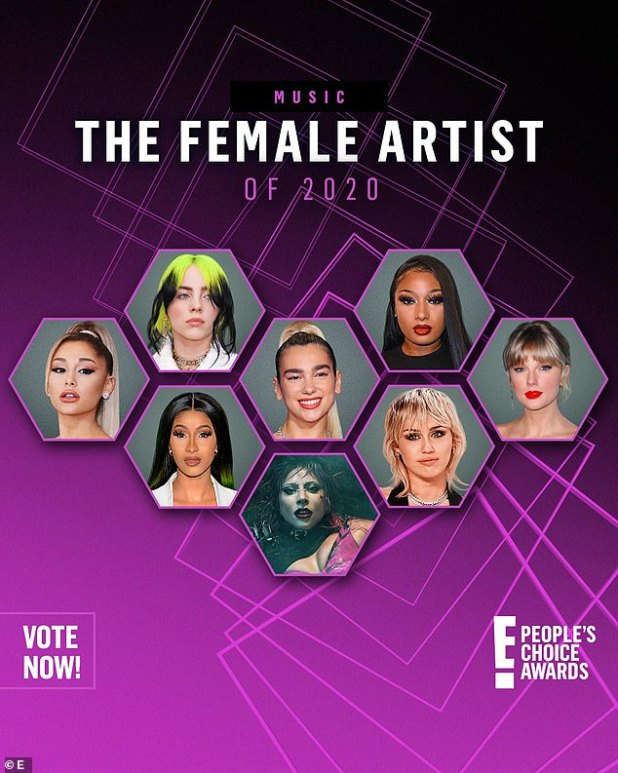 Who will win?  Cardi is next up for four trophies - including female artist of 2020 - at the fan-voted People's Choice Awards, which air November 15 on E!