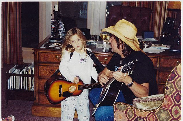 'I was in a dire situation with my family and I had to make a tough decision and I did and I'm sure people weren't happy about,' he said about his decision to leave the band. Sambora shared this throwback with daughter Ava