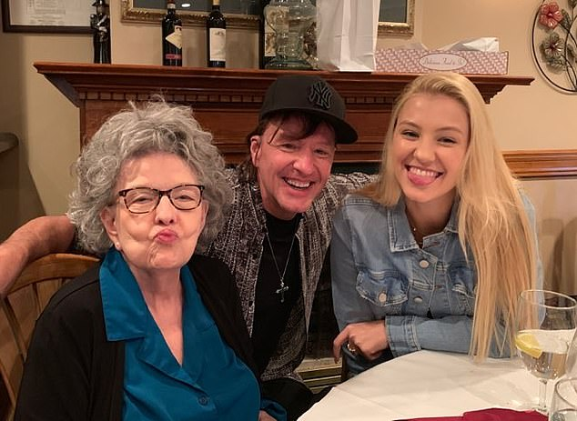 Sambora famously left the popular group in April 2013 for 'personal reasons' after three decades with the band. He's pictured with daughter Ava
