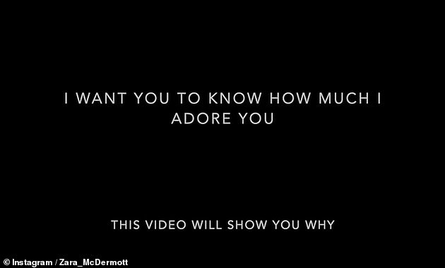 Begging:The video started with the caption: 'To the love of my life, I want you to know how much I adore you. This video will show you why'